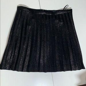 Black shiny J.Crew skirt!